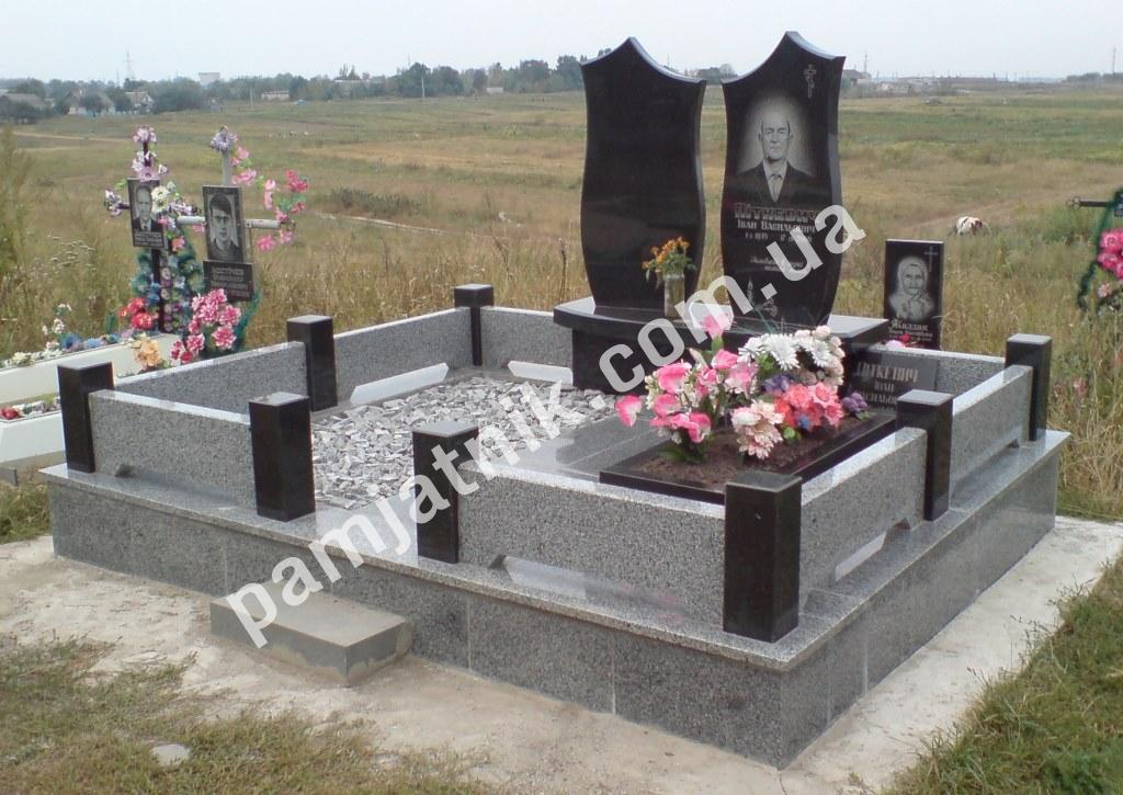 Оградки памятники на могилу Шар. Габбро-диабаз Белёв