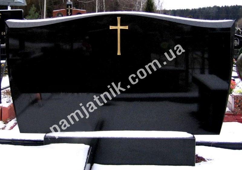 Эконом памятник горизонтальный Волна Уяр памятник с семейный Славгород