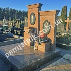 Элитный двойной памятник DP1-00109 от ЗАО Антик