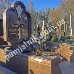 Элитный двойной памятник DP1-0069 от ЗАО Антик