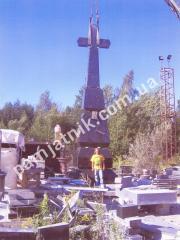 Эксклюзивный ритуальный крест габбро