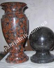 гранитный шар и ваза