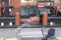 ограда с гранитными колоннами