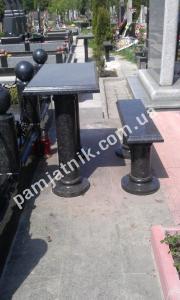 Гранитный стол и лавка