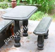 Стол и скамья из габбро
