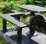 Гранитный стол и скамейка