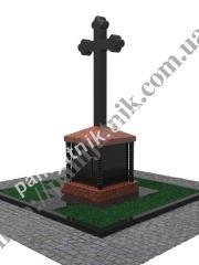 Макет элитного памятника-креста 019