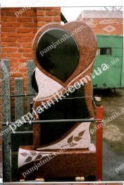Фигурный памятник 3_0065 в форме сердца