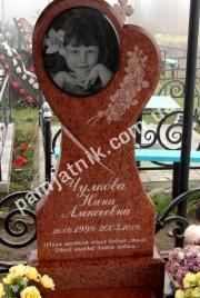 Детский памятник-сердце 0024 из красного гранита