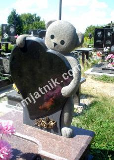 """Памятник для ребёнка 0105 """"Мишка"""""""