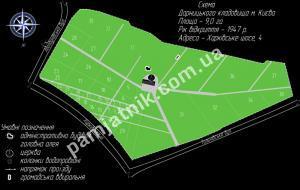 Схема участков на Дарницком кладбище