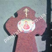 Фоткерамика-икона на памятнике-ритуальном кресте
