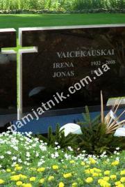 Двойной памятник с воздушным крестом 0012
