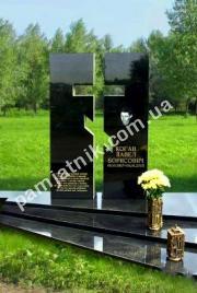 Двойной памятник с воздушным крестом 0018