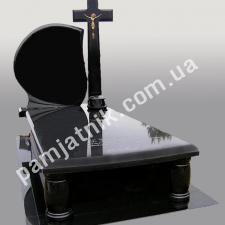 Одинарный памятник с крестом 1-00009