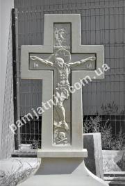 Эксклюзивная мраморное распятие Иисуса на могилу 141