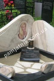 Эксклюзивный мраморный мемориал из бежевого мрамора 166